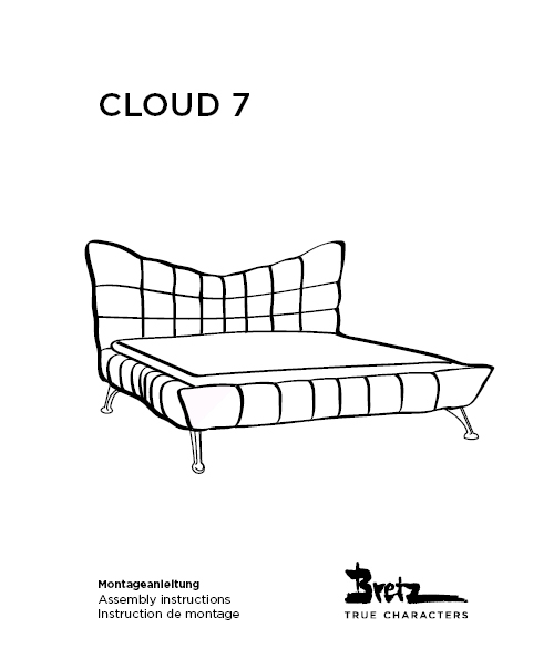 "Bretz ""Cloud7 Bed""<br/>Assembly instructions"