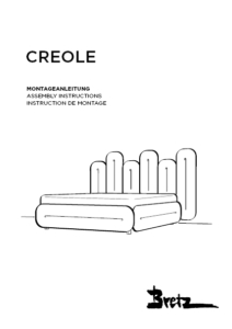 """Bretz """"Creole Bed""""<br/>Assembly instructions"""