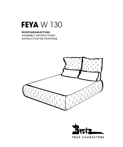 "Bretz ""Feya Bed""<br/>Assembly instructions"